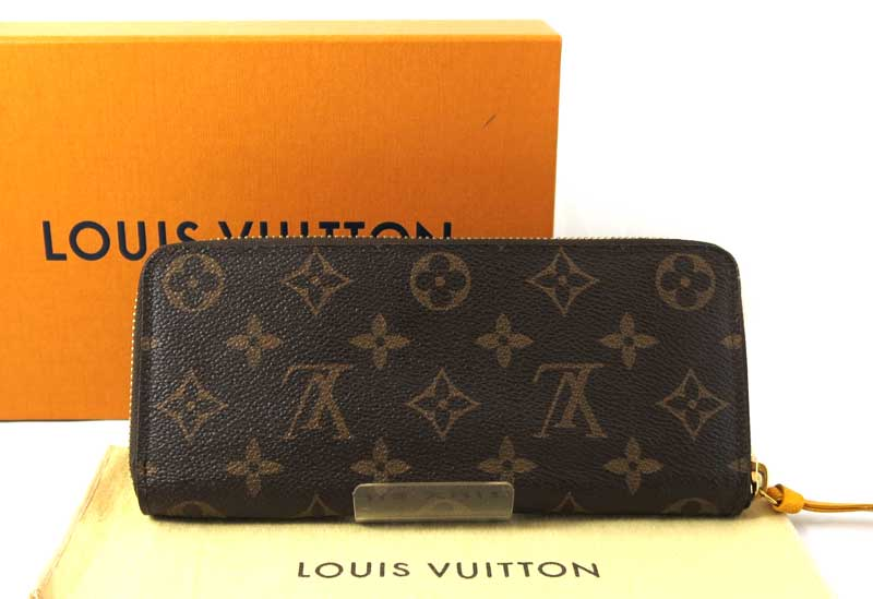 new products b8b20 90fcb LOUIS VUITTON ルイヴィトンポルトフォイユ Clement's round fastener long wallet monogram X  yellow yellow M60744/27622