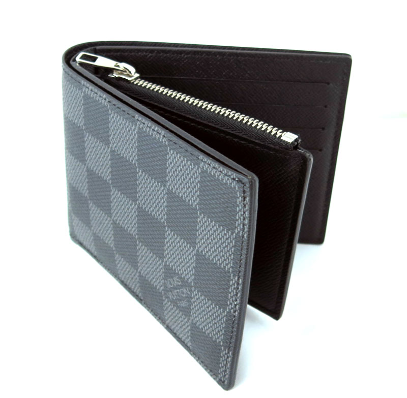 fe21180ae22d Two LOUIS VUITTON ルイヴィトンダミエグラフィットポルトフォイユ Amerigo fold wallet N41635 28281