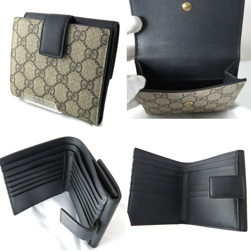 lowest price 165ca 324d1 New work GUCCI Gucci autumn of 2017 winter W hook wallet GG  スプリームキャンバスフレンチフラップウォレットキャンバス X ...