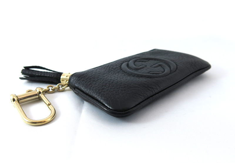 Coin case coin purse wallet leather black ref.354358 27672 with the GUCCI  Gucci Soho key ring d8a49591d