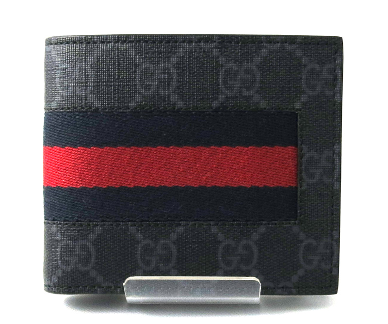 d717ab735a0b GUCCI Gucci folio wallet gray GG スプリームキャンバス wallet blue red  ref.408826/27530 ...