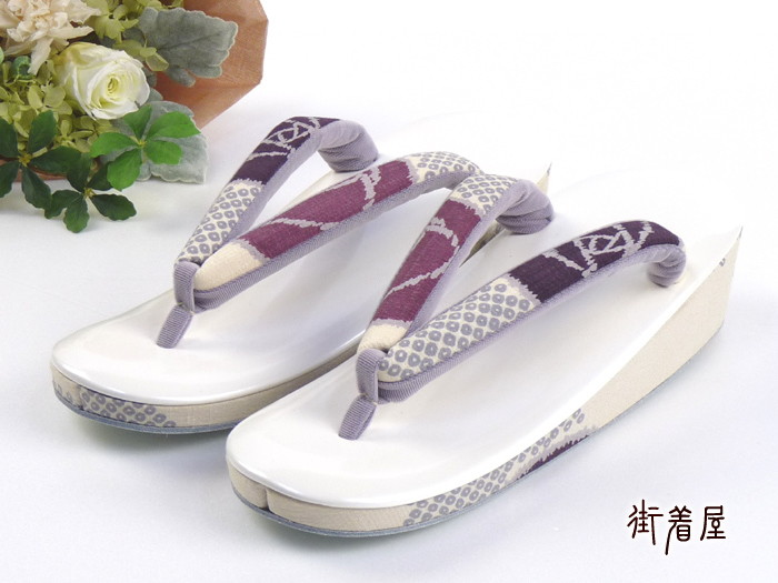 """""""tsuki to kame"""" Sandals (sandals) modern roses (white Tendai and side / wine) ♪ floral / limited / original / white purple pink pattern / thicker than standard straps on the same day delivery OK! Cash on delivery fee,! etc. of the item."""