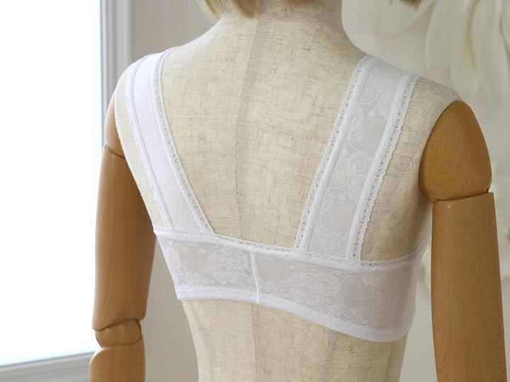 『 着付け小物 』>『 肌着・補正下着 』>和装ブラジャー(白/黒)>和装ブラジャー(ホワイト)