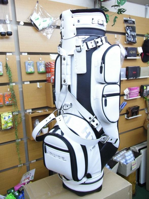 三浦技研球童袋 2016 年的有限高尔夫 9.0 英寸 46 英寸 PVC 合成革质量真正的学校 MCB16 运动型白色,黑色和红色三浦技研高尔夫球袋 2016年有限模型