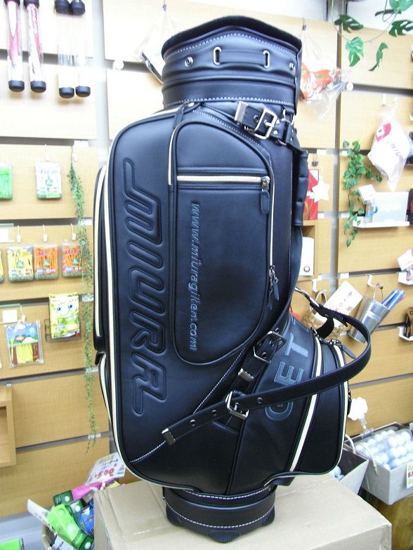 Miura Giken Caddy bag 2016 years of limited Golf 9.0-inch 46-inch PVC for synthetic leather quality real school MCB16 sporty white, black and Red MIURA GIKEN GOLF BAG 2016 LIMITED MODEL