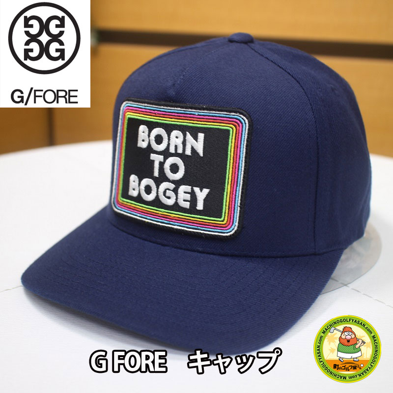 MACHINOGOLFYASAN  G FORE (G forehand) golf cap navy-blue adjustable size  BORN TO BOGEY  8ee544282ea