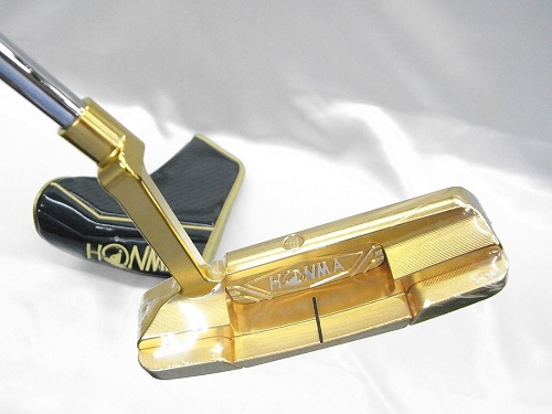"Honma Beres PP101 putter Honma Golf Gold putter 34 inch premium rea HONMA BERES PREMIUM PUTTER length:34 ""FOR BERES STARS MENBERS ONLY"