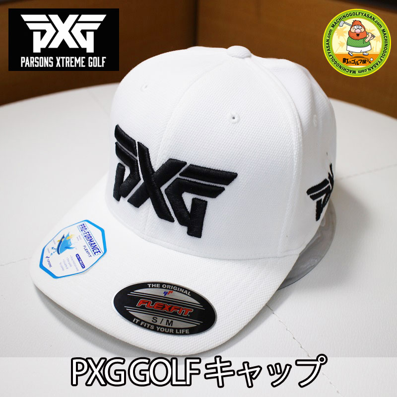 69449435ba8 MACHINOGOLFYASAN  Domestic non-release! PARSONS XTREME GOLF golf cap white  S-M size FLEX FIT