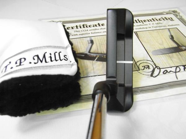附带T.P.MILLS Trad XL Plumber Neck推杆Putter旅游封条并且证明字条