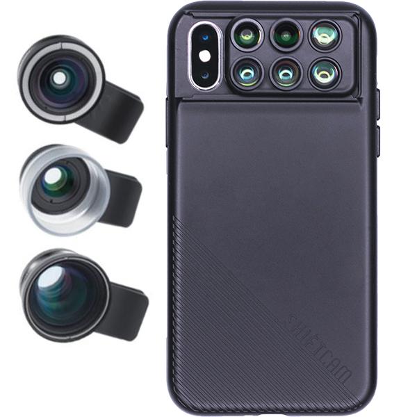 ShiftCAM 2.0 iPhoneX カメラレンズ 自撮り 魚眼レンズ マクロレンズ 広角レ ンズ 望遠レンズ 多機能ケース プロ望遠レンズキット付き 【日本正規代理店】