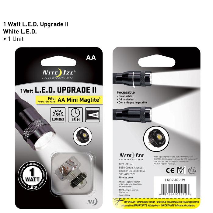 MAGLITE led Maglite niteize 1WLED upgrade modification MAG-LITE miniMAG mini Maglite mini Mag light