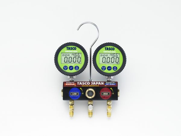TA124DWV-2 ボールバルブ式デジタルゲージマニホールドキット TASCO イチネンタスコ