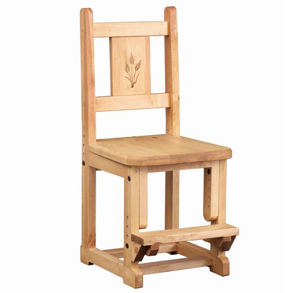 【日本製】 【カントリー家具/パイン家具】★スタディチェア 麦 新築・リフォーム・引越し・入学・木製