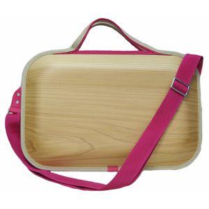 雑貨 エコアス馬路村のエコプロダクト モナッカ シリーズ 新色 自然の木目を生かした個性あるデザインです 当店一番人気 送料無料 モナッカバッグ角 bag-kaku ショルダータイプ プレーン-ピンク monacca