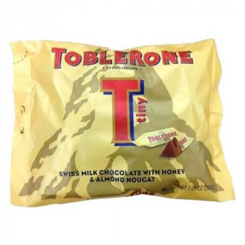 トブラローネ ミルクチョコレート タイニーミルクバッグ 200g×20袋セットお菓子 アーモンドヌガー はちみつ【メーカー直送 代引き・期日指定・ギフト包装・返品不可 ご注文後確認時に欠品の場合、納品遅れやキャンセルが発生します。】