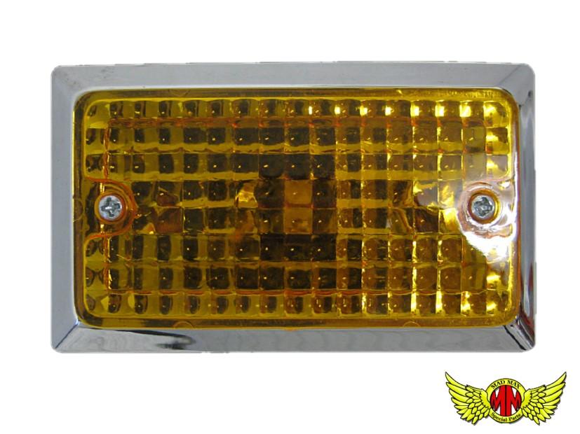 期間限定お試し価格 [宅送] O96-0433 送料無料 汎用 角型ウインカー オレンジ