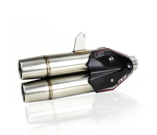 マフラーベスパ、ヴェスパ、ピアッジオ、マフラー、サイレンサー、バッフル、輸入車 【送料無料!!】IXIL(イクシル) デュアル L5X VESPA スリップオン GTS 300