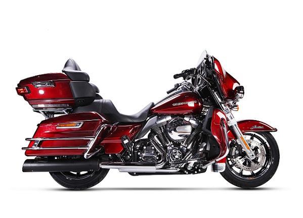 【送料無料!!】IRONHEAD(アイアンヘッド) HARLEY-DAVIDSON TOURING ROAD KING(ツーリング ロードキング)'06-'16 HC2-1B 2本出し スリップオン マフラー ブラックマフラー、サイレンサー、バッフル、IXIL、イクシル、ハーレー