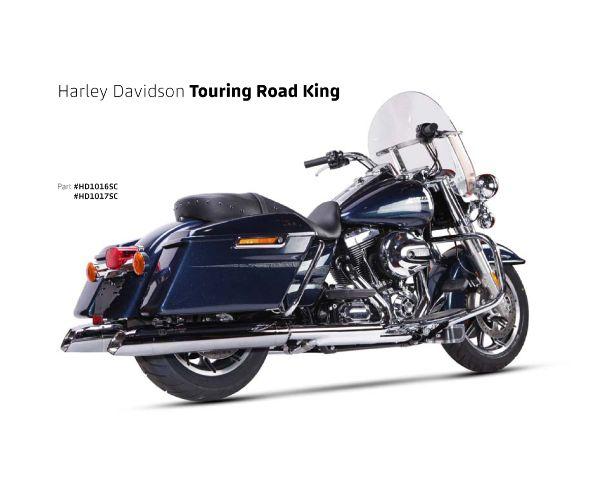 【送料無料!!】IRONHEAD(アイアンヘッド) HARLEY-DAVIDSON TOURING ROAD KING(ツーリング ロードキング)'06-'16 HC2-1C 2本出し スリップオン マフラーマフラー、サイレンサー、バッフル、IXIL、イクシル、ハーレー