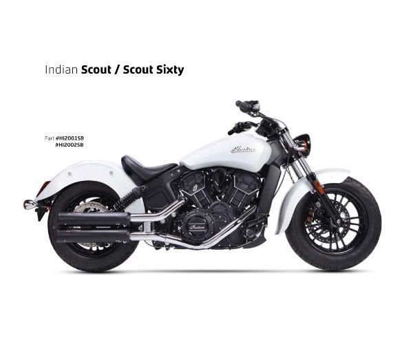 【送料無料!!】IRONHEAD(アイアンヘッド) INDIAN SCOUT(インディアン スカウト) HC1-2B 2本出し スリップオン マフラー ブラックマフラー、サイレンサー、バッフル、IXIL、イクシル