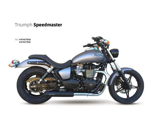 【送料無料!!】IRONHEAD(アイアンヘッド) TRIUMPH SPEEDMASTER(スピードマスター)/America HC1-2B 左右2本出し スリップオン マフラー ブラックマフラー、サイレンサー、バッフル、IXIL、イクシル、トライアンフ、ボンネビル