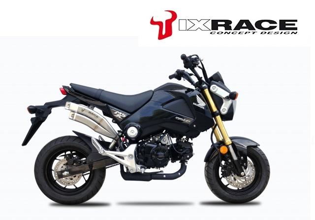 スリップマフラー 125/GROM Z7 ツインアップ お買い物マラソンSALE!!【送料無料!!】【送料無料】IXRACE MSX HONDA