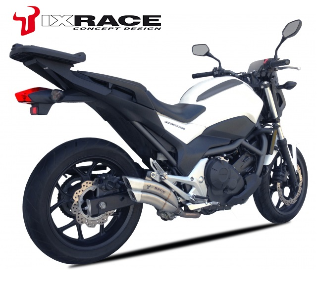 【送料無料】IXRACE HONDA NC 750 X / NC 750 S / INTEGRA Z7 ツインアップ スリップマフラー