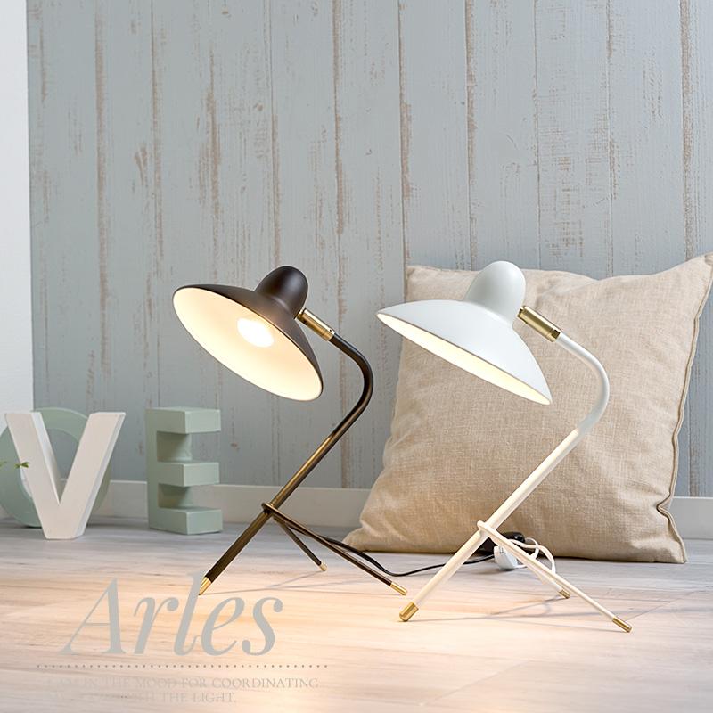 照明 テーブルランプ テーブルライト Arles アルル 白熱レフ球付き 黒 白 DI CLASSE ディークラッセ