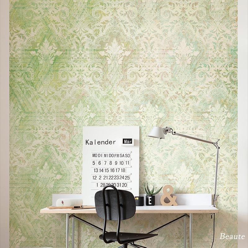 [全品対象10%OFF×本日限定クーポン]壁紙 クロス 輸入壁紙 インポート壁紙 おしゃれ はがせる 張り替え 補修 のり付き だまし絵 wallpaper コマー Beaute ボーテ HX4-016