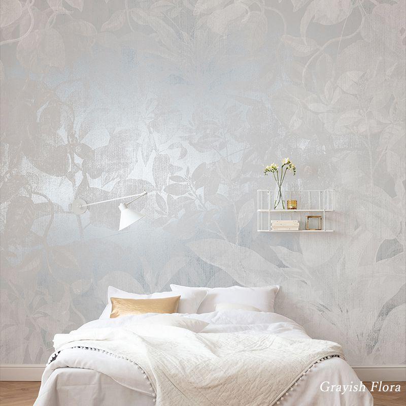 [全品対象10%OFF×本日限定クーポン]壁紙 クロス 輸入壁紙 インポート壁紙 おしゃれ はがせる 張り替え 補修 のり付き だまし絵 wallpaper コマー Grayish Flora グレイッシュフローラ RSX8-057