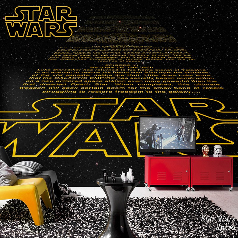 壁紙 輸入壁紙 インポート壁紙 スターウォーズ starwars STARWARS 粉のり付 おしゃれ クロス 紙 店舗 内装 撮影 ドイツ製 [Star Wars Intro]8-487 友安製作所
