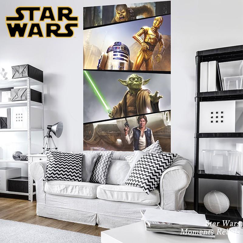 [最大2000円クーポン配布中×マラソン]壁紙 輸入壁紙 インポート壁紙 スターウォーズ starwars STARWARS のりなし 不織布 おしゃれ クロス 店舗 内装 撮影 ドイツ製 [Star Wars Moments Rebels]VD-026