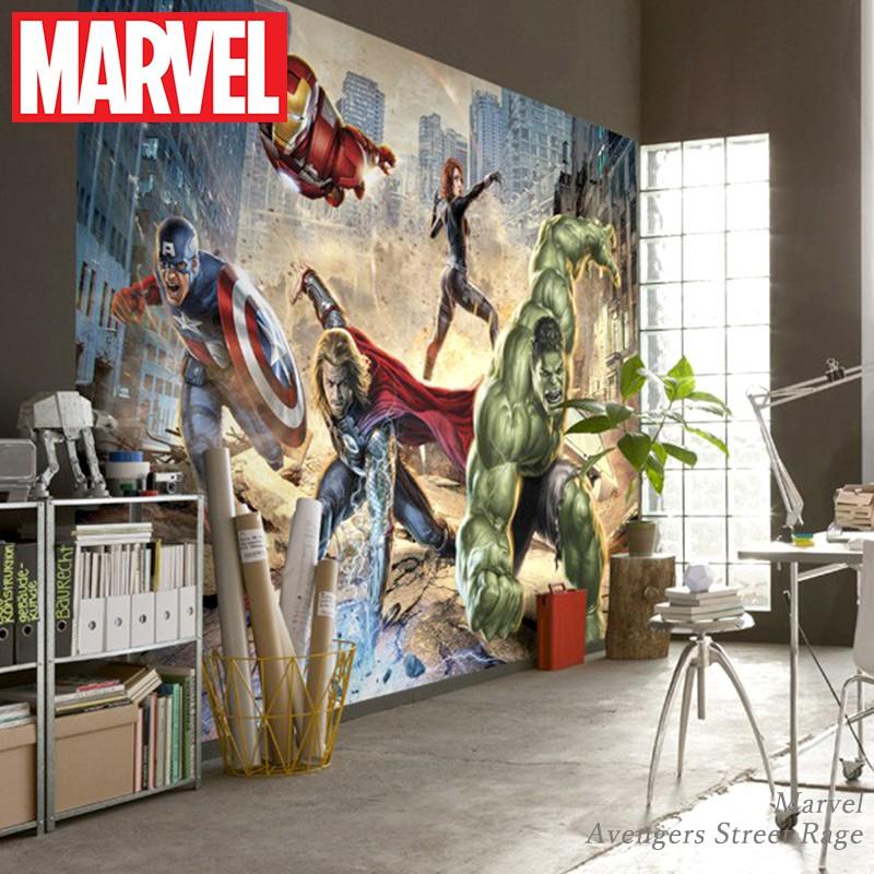 [最大2000円クーポン配布中×マラソン]壁紙 輸入壁紙 インポート壁紙 マーベル MARVEL marvel 粉のり付 紙 おしゃれ クロス 店舗 内装 撮影 ドイツ製 [Marvel Avengers Street Rage]8-432