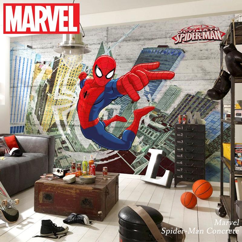 壁紙 輸入壁紙 インポート壁紙 スパイダーマン マーベル MARVEL marvel 粉のり付 紙 おしゃれ クロス 店舗 内装 撮影 ドイツ製 [Marvel Spider-Man Concrete]8-467