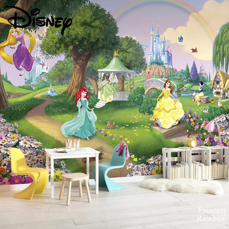 壁紙 輸入壁紙 インポート壁紙 ディズニー DISNEY disney プリンセス ベル シンデレラ ラプンツェル 白雪姫 粉のり付 紙 おしゃれ クロス ドイツ製 店舗 内装 補修 リビング トイレ 玄関 リフォーム ウォールペーパー [Princess Rainbow] 8-449