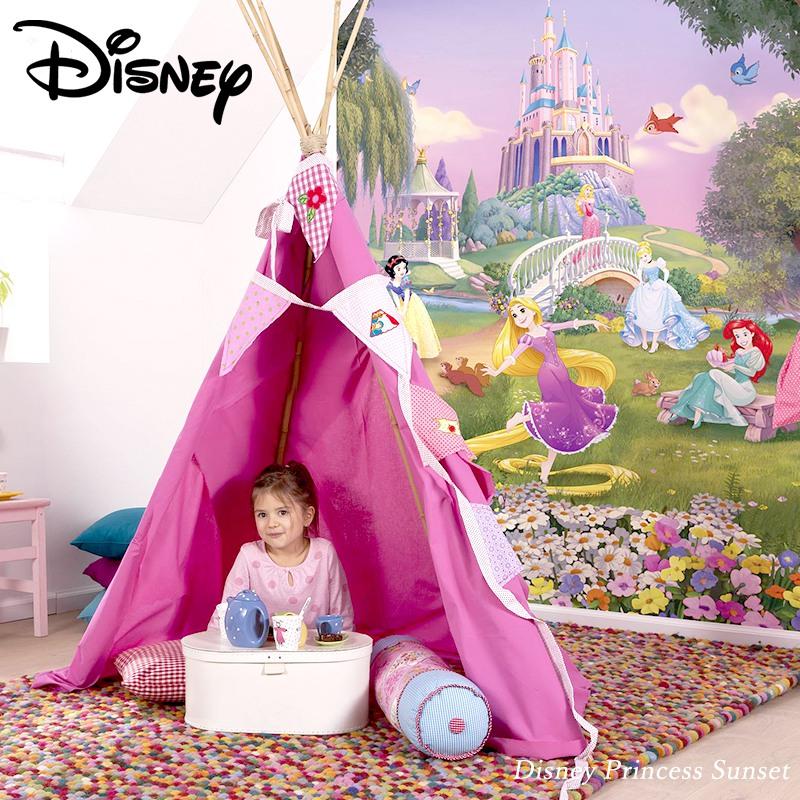 [全品対象10%OFF×本日限定クーポン]壁紙 クロス 輸入壁紙 インポート壁紙 ディズニー DISNEY おしゃれ はがせる 張り替え 補修 のり付き だまし絵 wallpaper コマー Disney Princess Sunset ディズニープリンセスサンセット 4-4026