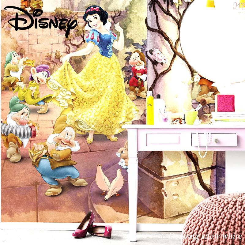 [全品対象10%OFF×本日限定クーポン]壁紙 クロス 輸入壁紙 インポート壁紙 ディズニー DISNEY おしゃれ はがせる 張り替え 補修 のり付き だまし絵 wallpaper コマー Dancing snow white 白雪姫のダンス 4-494