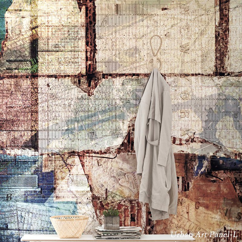 [最大2000円クーポン配布中×マラソン]壁紙 のりなし おしゃれ クロス 輸入壁紙 不織布 フリース はがせる 店舗 内装 ドイツ製 アンティーク[Urban Art /アーバンアートL]6001A-VD3