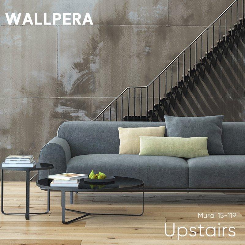 [全品対象10%OFF×本日限定クーポン]輸入壁紙 おしゃれ 壁紙 クロス 不織布 WALLPERA インダストリアル Mural 15-119 Upstairs アップステアーズ 友安製作所