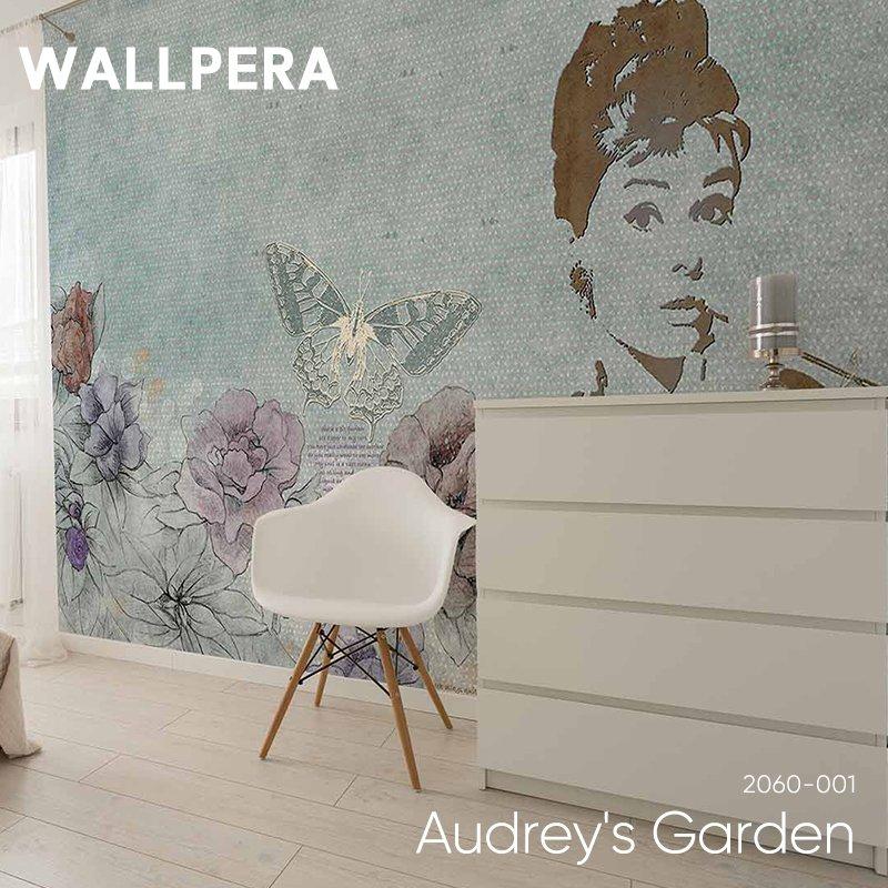 [最大2000円クーポン配布中×マラソン]輸入壁紙 おしゃれ 壁紙 クロス 不織布 WALLPERA 花柄 2060-001 Audrey's Garden オードリーズガーデン