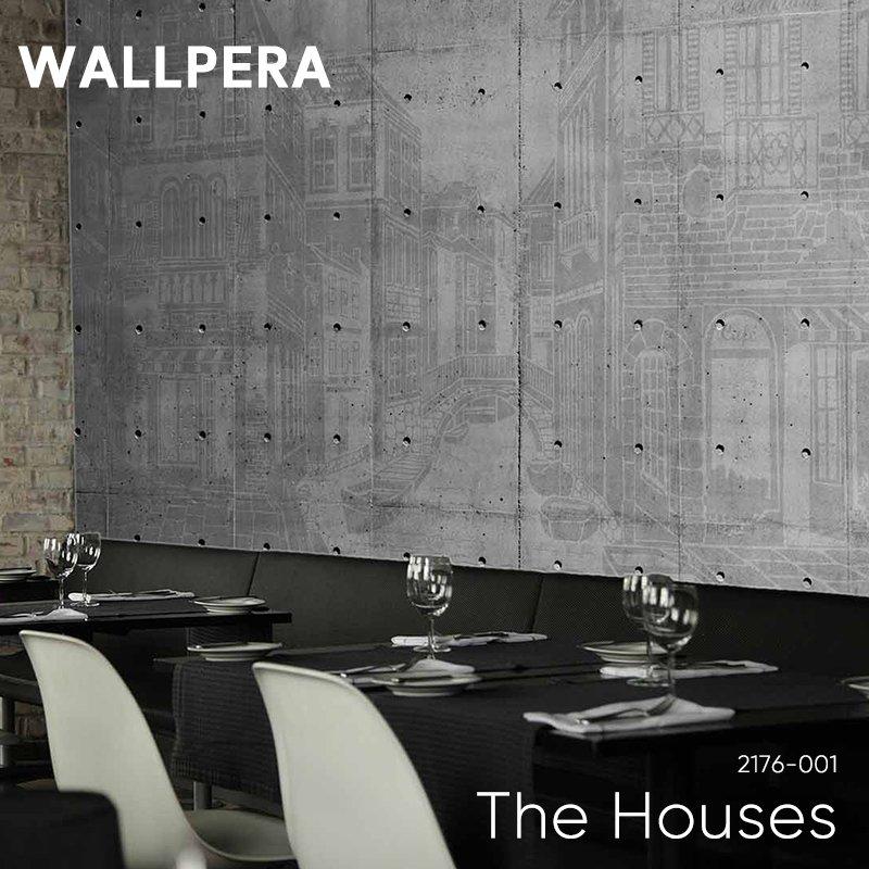 [8%OFFクーポン×マラソン]壁紙 クロス 輸入壁紙 不織布 WALLPERA [2176-001 The Houses] ザハウジズ 《即納可》