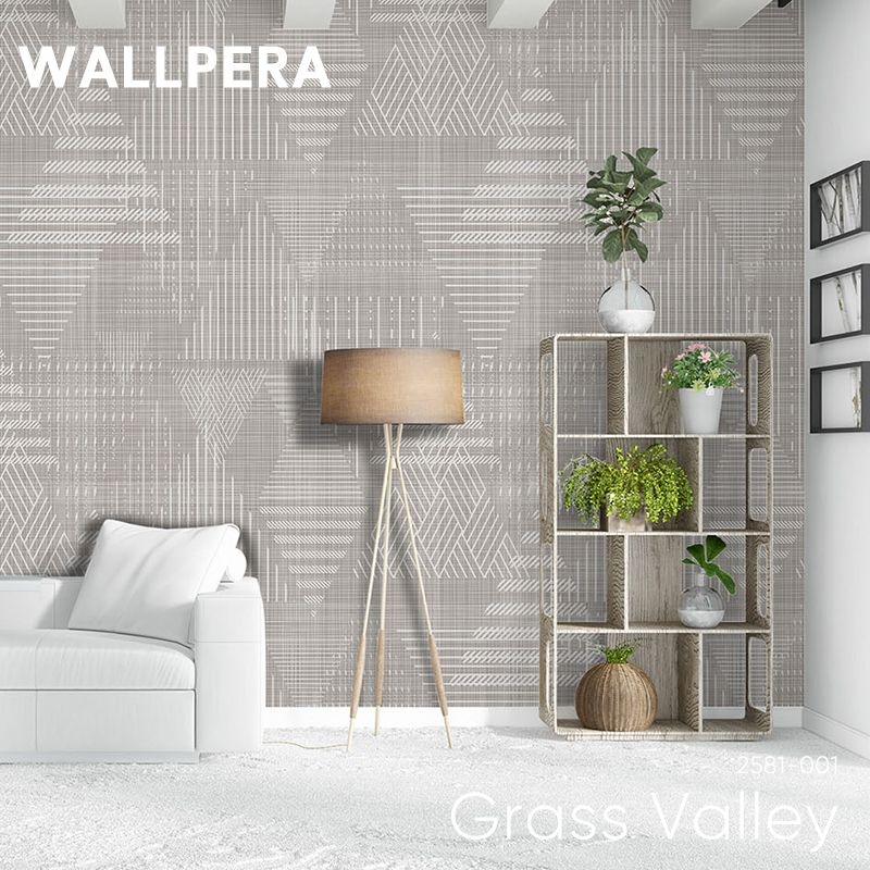 [全品対象10%OFF×本日限定クーポン]輸入壁紙 おしゃれ 壁紙 クロス 不織布 WALLPERA 北欧 2581-001 Grass Valley グラスバレー 友安製作所