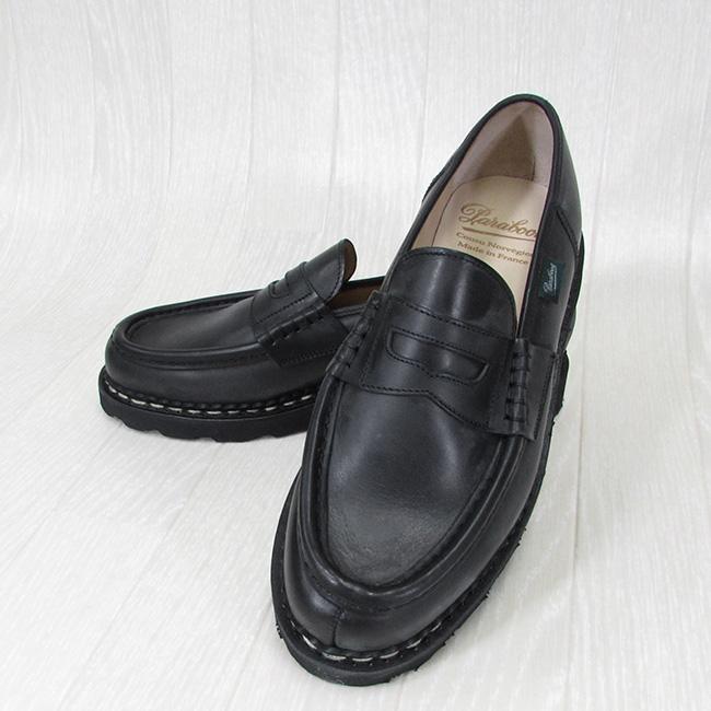 Paraboot パラブーツ メンズ ローファー ランス REIMS 099412 チロリアン シューズ フランス製 靴 /NOIR ノワール サイズ:5.5~10
