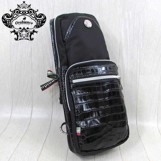 オロビアンコ OROBIANCO バッグ ボディバッグ ショルダーバッグ ナイロン GIACOMIO 13-H/ブラック