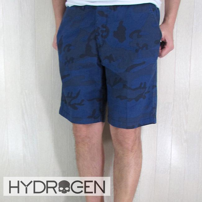 ハイドロゲン HYDROGEN メンズ ハーフパンツ ショートパンツ ショーツ 180505/ブルーカモフラ サイズ:29~36