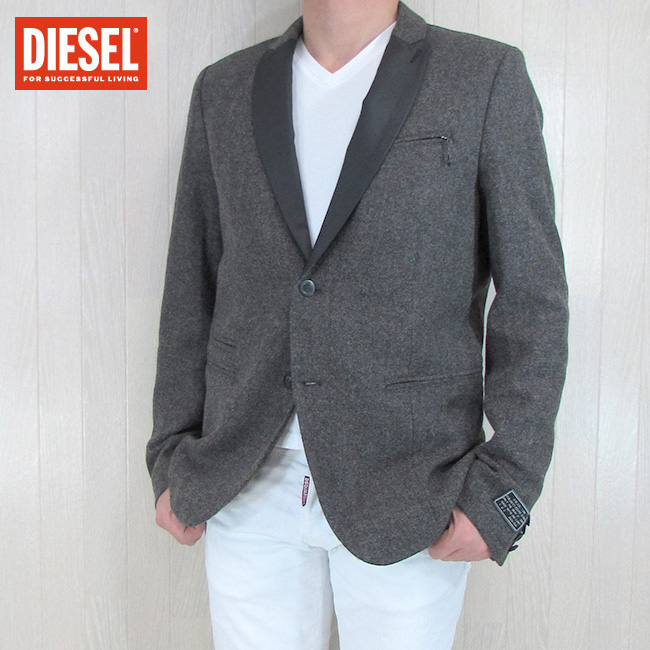 DIESEL ディーゼル テーラードジャケット メンズ ジャケット アウター J-BALDUIN/ブラウン サイズ:M/L/XL