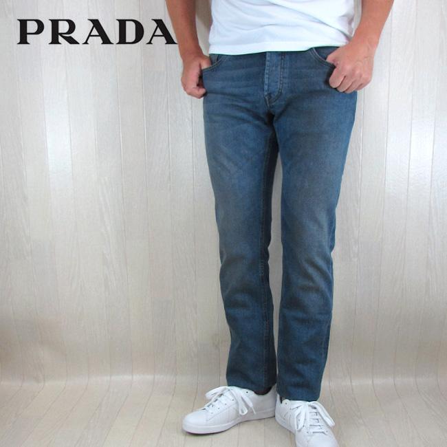 a7723134c2a2 PRADAプラダデニムジーンズメンズパンツホワイトデニムGEP010/ブルーサイズ:30