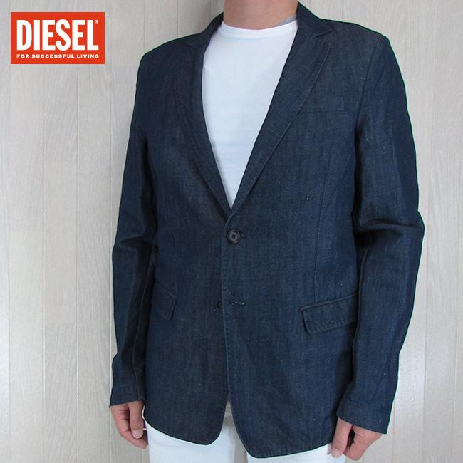 ディーゼル DIESEL テーラードジャケット メンズ ジャケット アウター J-USOP-D/-/インディゴ サイズ:44/48