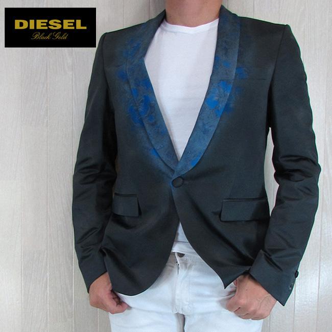 ディーゼル ブラックゴールド DIESEL BLACK GOLD メンズ ジャケット テーラードジャケット アウター ILLIS-R/U89R/ダークグレー サイズ:46