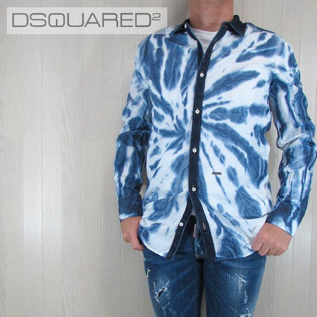 ディースクエアード DSQUARED2 メンズ シャツ カジュアルシャツ トップス S71DL0933100/ブルー サイズ:44/46/48/50